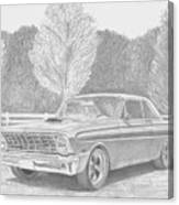 1965 Ford Falcon Classic Car Art Print Canvas Print