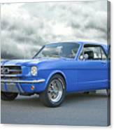 1965 Ford Mustang 'blue Coupe' IIa Canvas Print