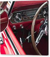 1965 Ford Mustang Fastback Dash Canvas Print