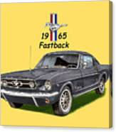 Mustang Fastback 1965 Canvas Print
