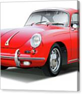 1965 Porshe 356 Sc Coupe Canvas Print
