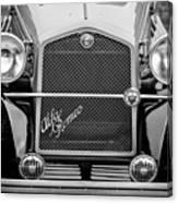 1966 Alfa Romeo Quattro Route 4r -0134bw Canvas Print