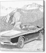 1966 Buick Riviera Classic Car Art Print Canvas Print
