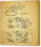 1966 Bulldozer Patent Canvas Print
