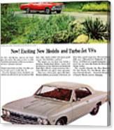 1966 Chevrolet Chevelle Turbo-jet V8's Canvas Print