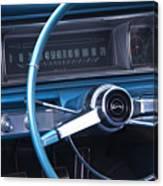 1966 Chevrolet Impala Dash Canvas Print