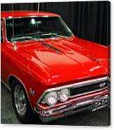 1966 Chevy Chevelle Ss 396 . Red . 7d9278 Canvas Print