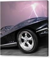 1966 Corvette Stingray With Lightning Canvas Print