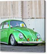 1966 Custom Green Beetle Canvas Print