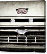 1966 Ford Pickup Truck Grille Emblem -0154ac Canvas Print