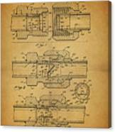 1966 Pipe Coupling Patent Canvas Print