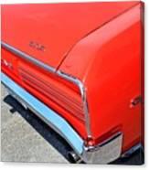 1966 Pontiac Gto Tail Lights And Logos Canvas Print