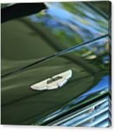 1967 Aston Martin Db6 Coupe Hood Emblem Canvas Print