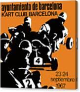 1967 Barcelona Kart Racing Poster Canvas Print