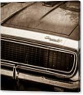 1967 Chevrolet Camaro Ss350 Convertible Grille Emblem -0704s Canvas Print