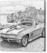 1967 Chevrolet Corvette 427 Convertible Sports Car Art Print Canvas Print