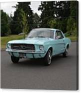 1967 Ford Mustang Watts Canvas Print