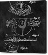 1967 Lawn Mower Patent Illustration Canvas Print