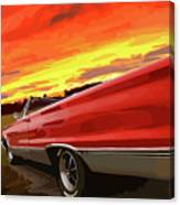 1967 Plymouth Satellite Convertible Canvas Print