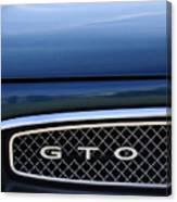1967 Pontiac Gto Grille Emblem Canvas Print