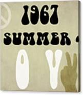 1967 Summer Of Love Newspaper Canvas Print