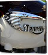 1967 Triumph Gas Tank 2 Canvas Print