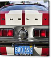 1968 Bad Ass Shelby Mustang Canvas Print