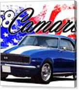 1968 Camaro Stars And Stripes Canvas Print
