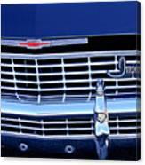 1968 Chevrolet Impala Ss Grille Emblem Canvas Print