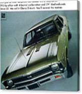 1968 Chevy Nova Ss Canvas Print