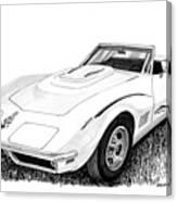 1968 Corvette Canvas Print