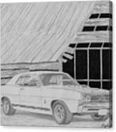 1968 Ford Fairlane Muscle Car Art Print Canvas Print