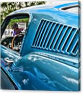 1968 Ford Mustang Fastback In Blue Canvas Print
