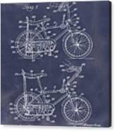1968 Schwinn Stingray Patent In Blueprint Canvas Print