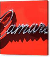 1969 Chevrolet Camaro Z-28 302 Emblem -0152c Canvas Print