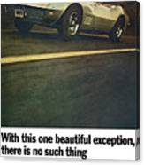 1969 Chevrolet Corvette Canvas Print