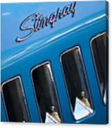 1969 Chevrolet Corvette Stingray Emblem Canvas Print