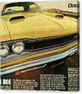 1969 Dodge Coronet Super Bee Canvas Print