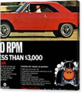 1969 Dodge Dart Swinger 340 Canvas Print
