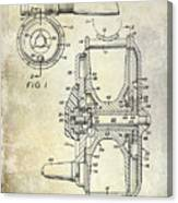 1969 Fly Reel Patent Canvas Print
