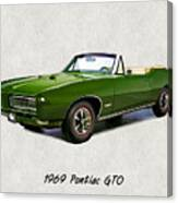 1969 Green Pontiac Gto Convertible Canvas Print
