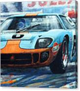 1969 Le Mans 24 Ford Gt 40 Ickx Oliver Winner  Canvas Print