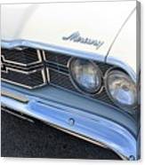 1969 Mercury Montego Mx Grille With Headlights And Logos Canvas Print