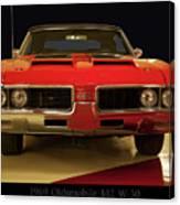 1969 Oldsmobile 442 W-30 Canvas Print
