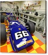 1969 Penske Indy Car In Garage Canvas Print