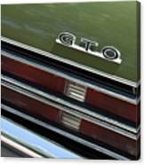 1969 Pontiac Gto Taillight Emblem Canvas Print