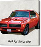 1969 Red Pontiac Gto The Judge Canvas Print