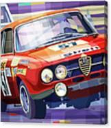 1970 Alfa Romeo Giulia Gt Canvas Print