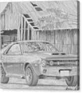 1970 Amx Javelin Muscle Car Art Print Canvas Print