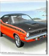 1970 Barracuda Aar  Cuda Classic Muscle Car Canvas Print
